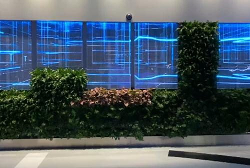 崂山科技馆海信LED透明屏