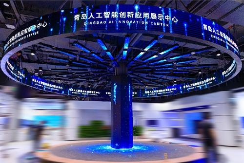 崂山科技馆P2.5海信树形屏