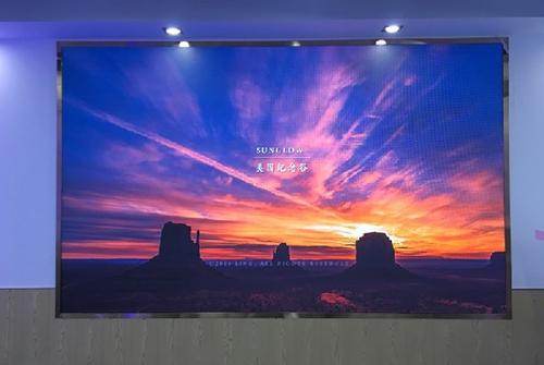 海信大厦高密度LED全彩屏