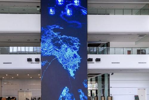 崂山科技馆海信P3全彩LED显示屏