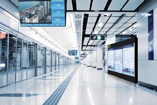 地铁站海信LED数字标牌显示屏