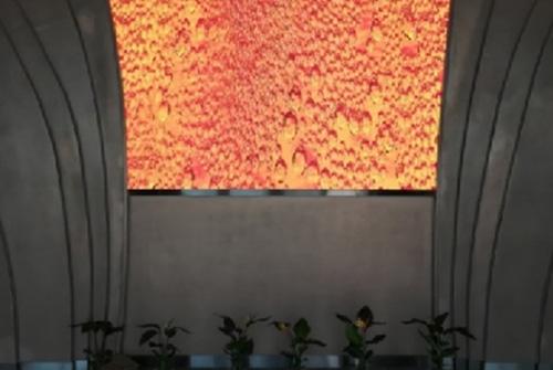 青岛啤酒展厅海信液晶屏